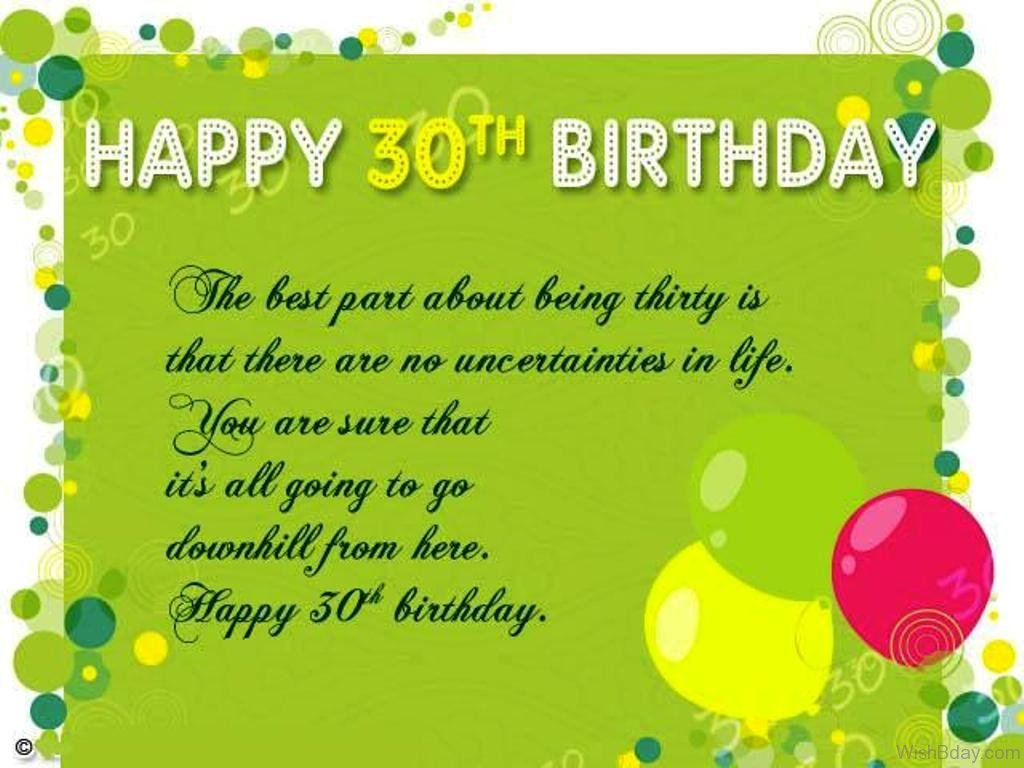 42 30th Birthday Wishes – 30th Birthday Card Messages