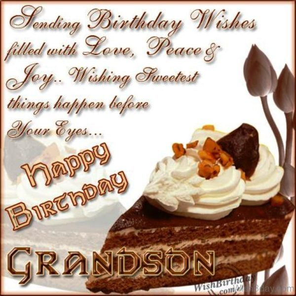 Happy Birthday My Dear Grandson