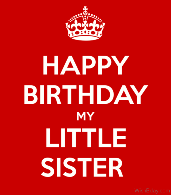 Happy Birthday My Little Sister Image