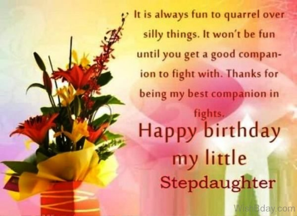 Happy Birthday My Little StepDaughter