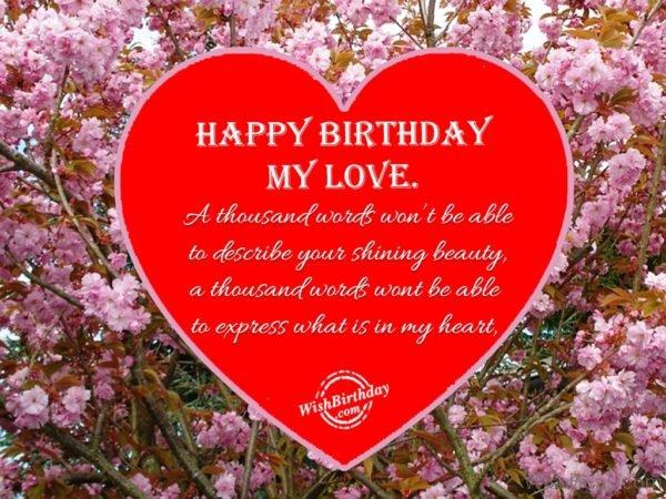Happy Birthday My Love 4