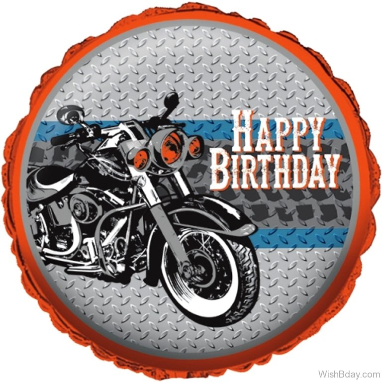 Открытка байкеру на день рождения 89