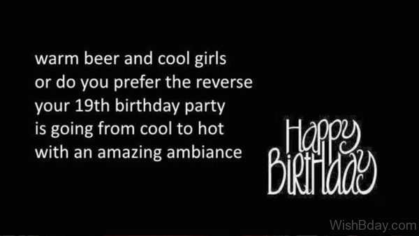 Happy Birthday Nineteen Wishes 1