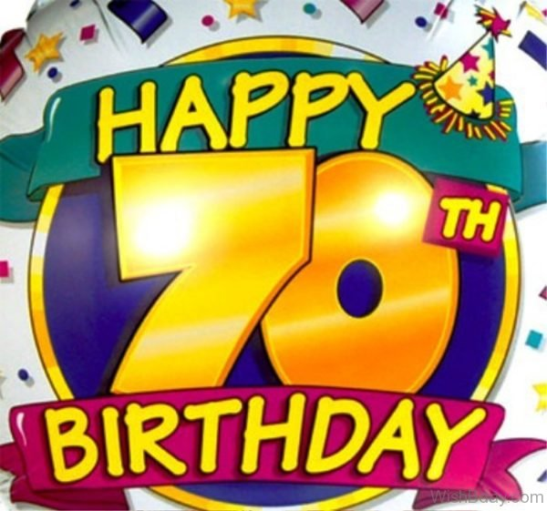 Happy Birthday Seventy Years Old Image 2