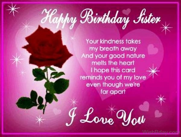 Happy Birthday Sister 1