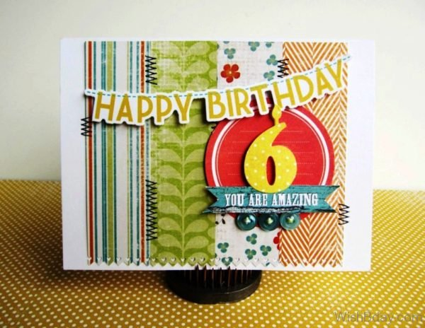 Happy Birthday Six year Old