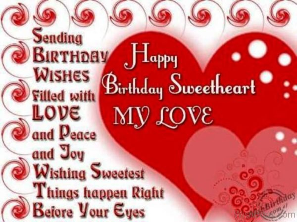 Happy Birthday Sweetheart My Love