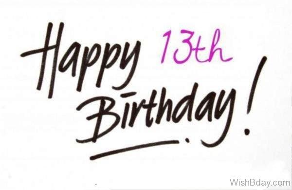 Happy Birthday Thirteenth Birthday Image