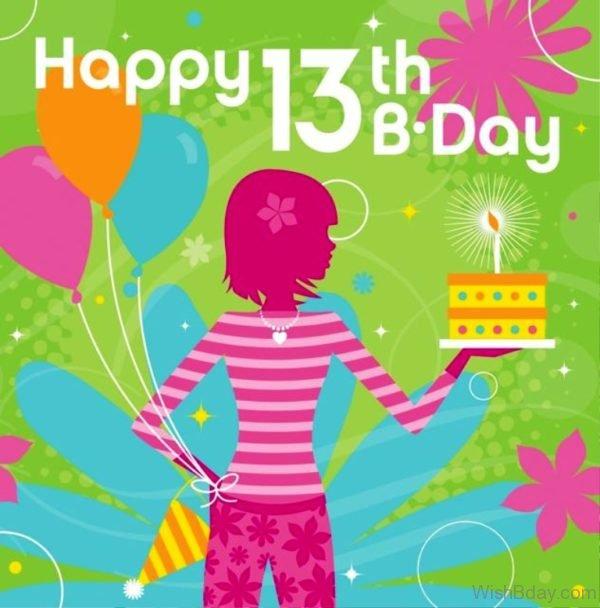 Happy Birthday Thirteenth Years Old