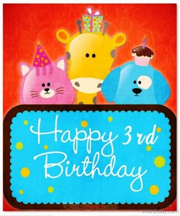 Happy Birthday Three Year Old