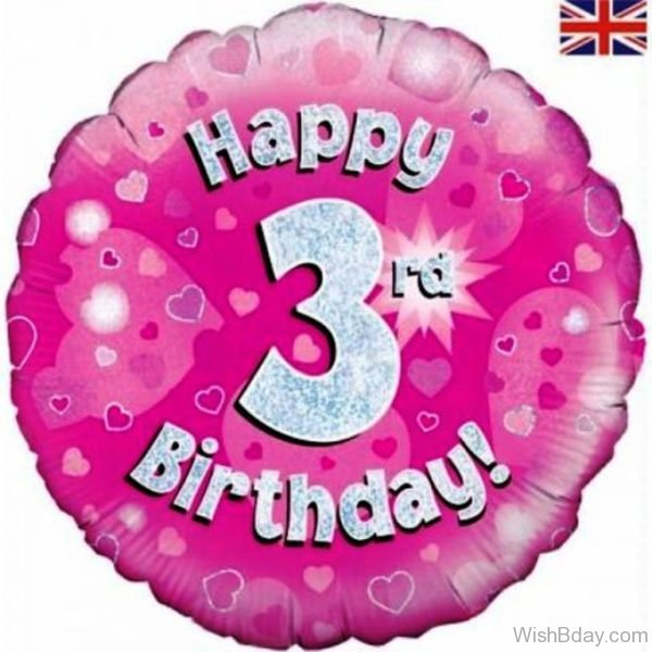 Happy Birthday Three Year Old Birthday Image