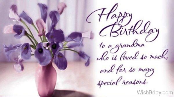 Happy Birthday To A Grandma