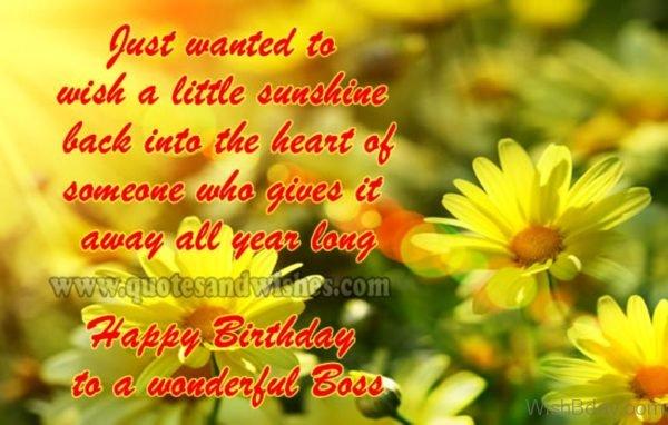 Happy Birthday To A Wonderful Boss