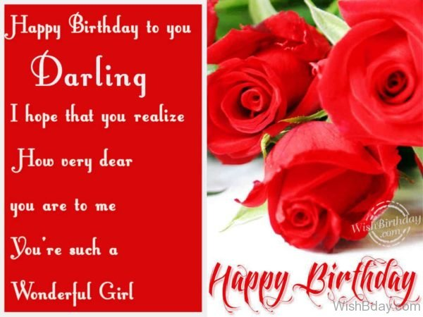 Happy Birthday To A Wonderful Girl