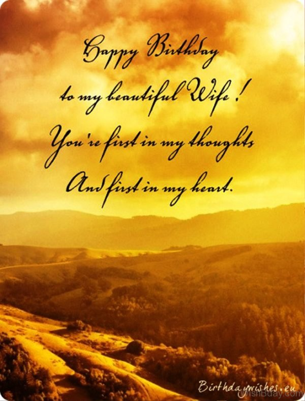 Happy Birthday To My Beautiful Wife
