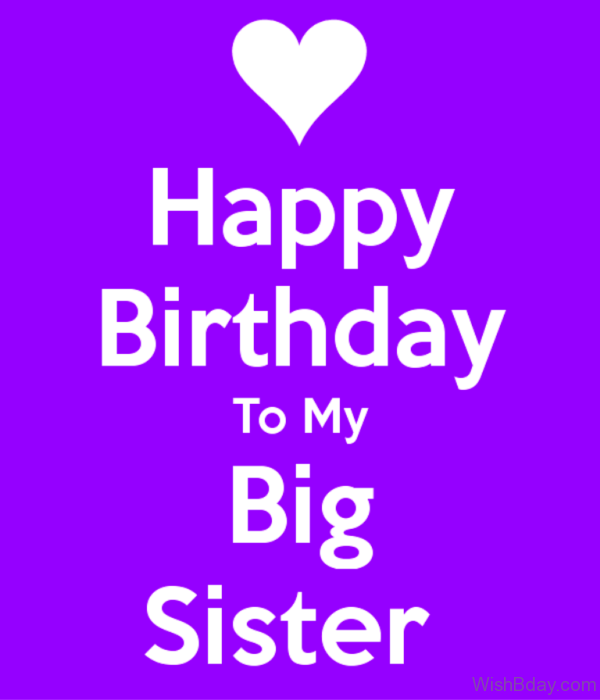 Happy Birthday To My Big Sister 1