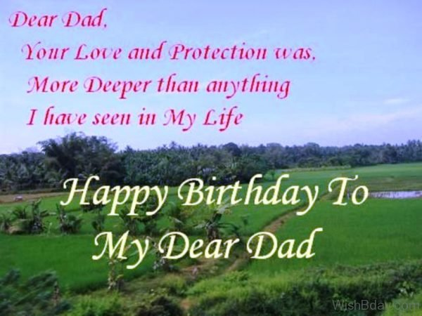 Happy Birthday To My Dear Dad