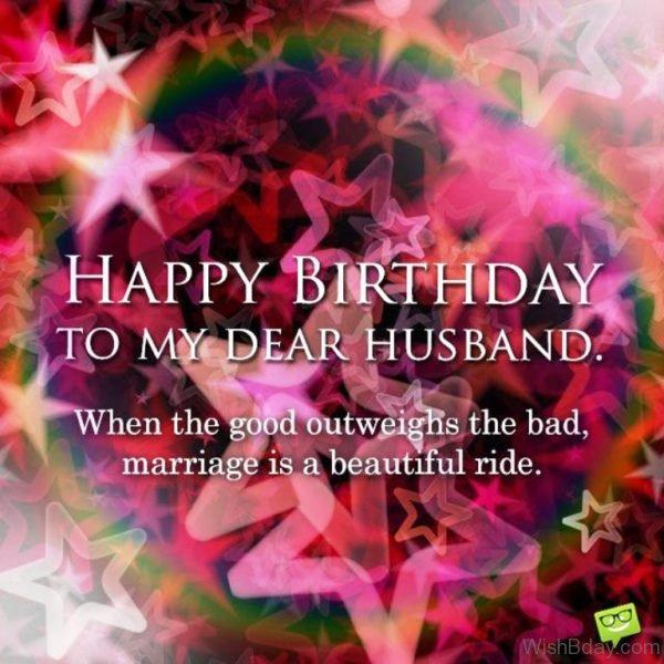 Happy Birthday To My Dear Husband