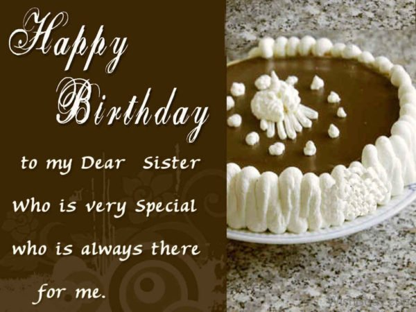 Happy Birthday To My Dear Sister