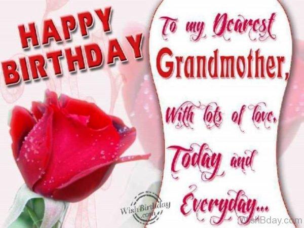 Happy Birthday To My Dearest Grandmother