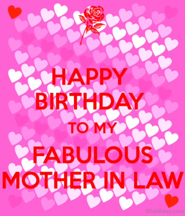 Happy Birthday To My Fablous Mother In Law