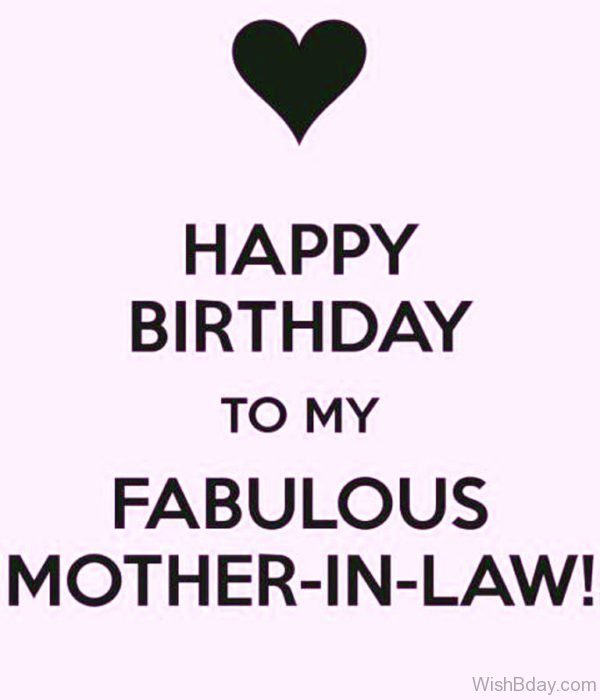 Happy Birthday To My Fabulous Mother In Law