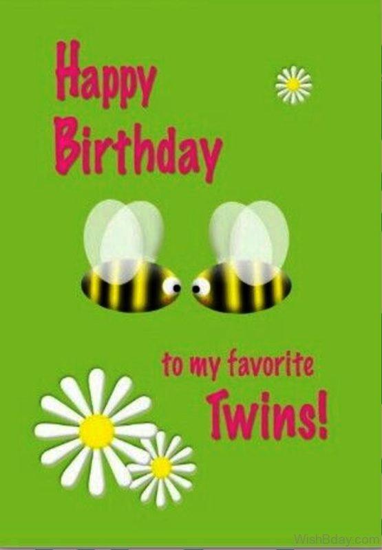 Happy Birthday To My Favourite Twins