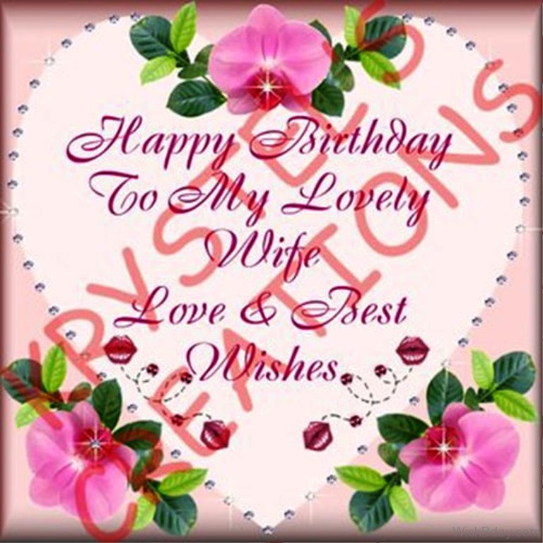 happy birthday to my lovely wife
