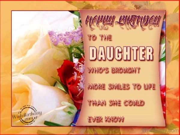 Happy Birthday To The Daughter