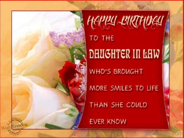 Happy Birthday To The Daughter in law 1
