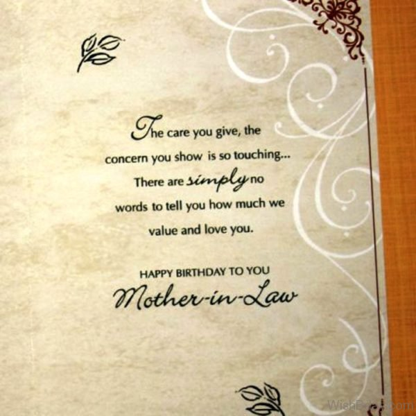 Happy Birthday To You Mother In Law