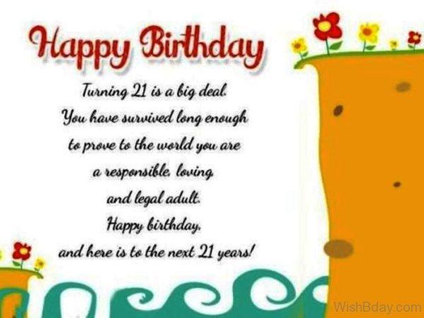 Happy Birthday Turning Twenty First Is A Big Deal