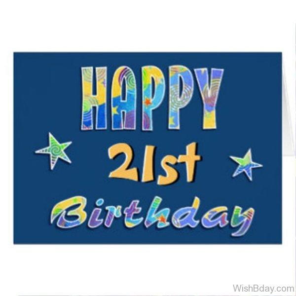 Happy Birthday Twenty One Year Old