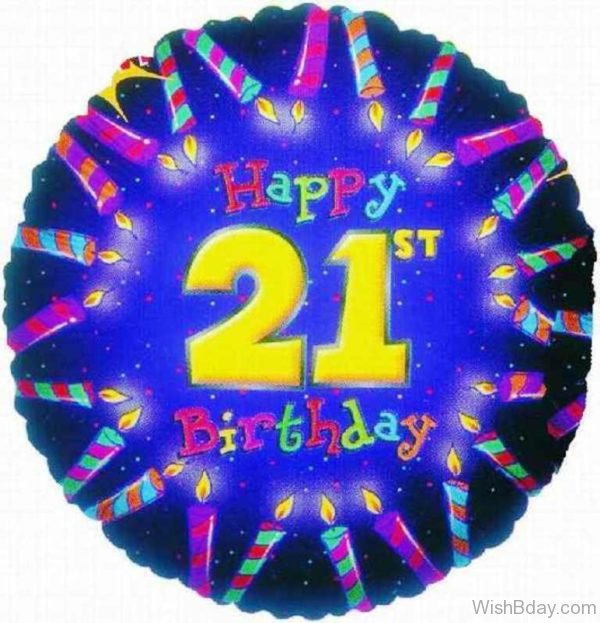 Happy Birthday Twenty One Year Old Balloon