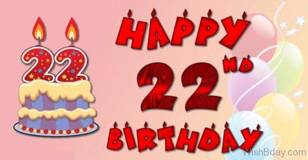 Happy Birthday Twenty Two Year Old
