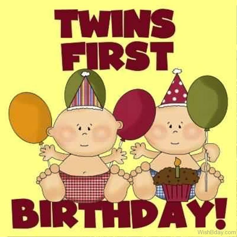 21 birthday wishes for twins happy birthday twins first bithday m4hsunfo Choice Image