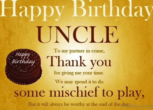 Happy Birthday Uncle To My Partner In Crime