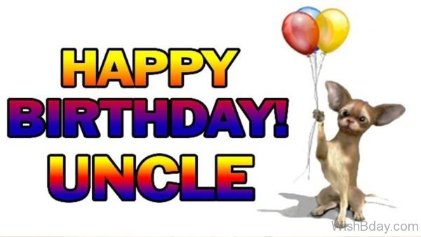 Happy Birthday Uncle With Balloons