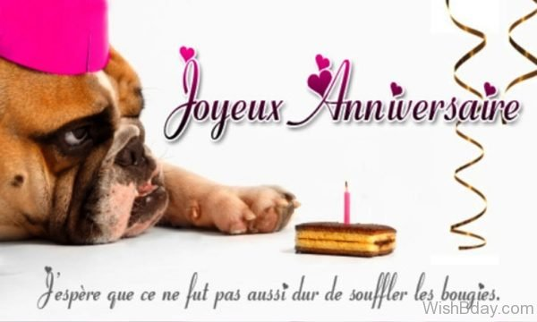 Happy Birthday Wishes In French Image 1