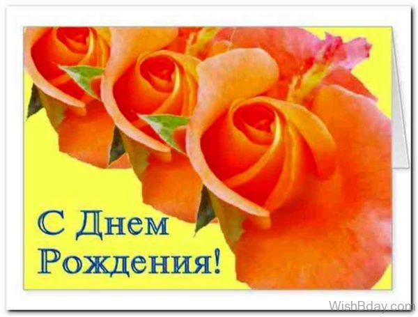 Happy Birthday Wishes In Russian Image