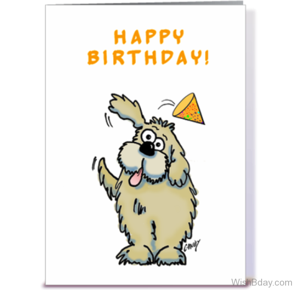 Happy Birthday Wishes With Dog Image