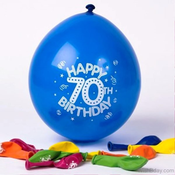 Happy Birthday With Blue Balloon