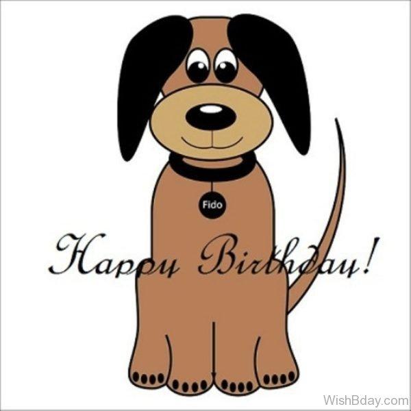 Happy Birthday With Dog Image