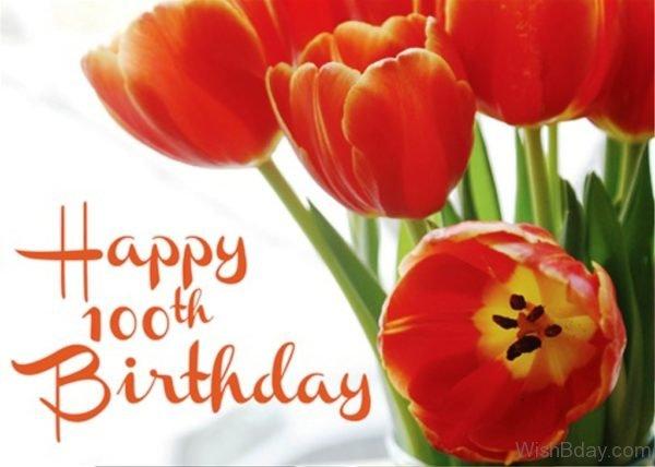 Happy Birthday With Flower 2