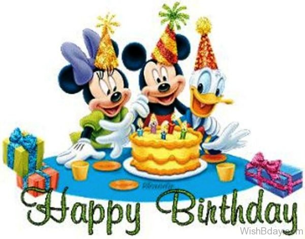 Happy Birthday With Micky Mouse