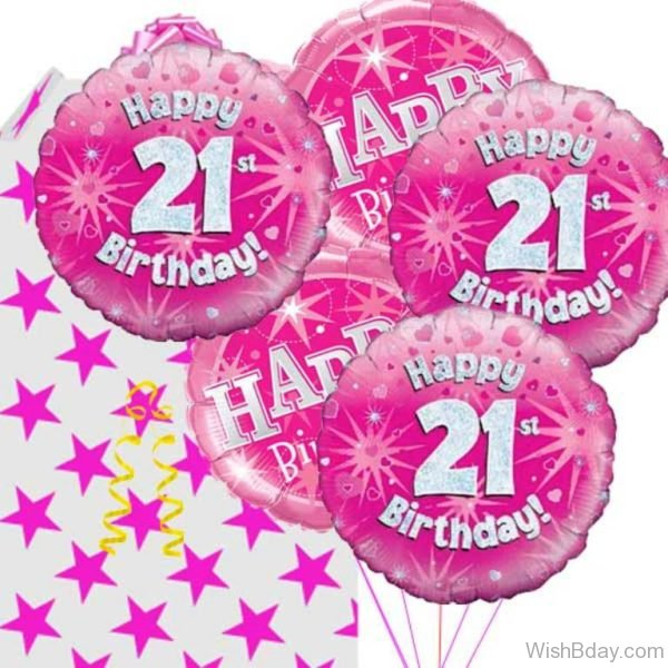 Happy Birthday With Pink Balloons