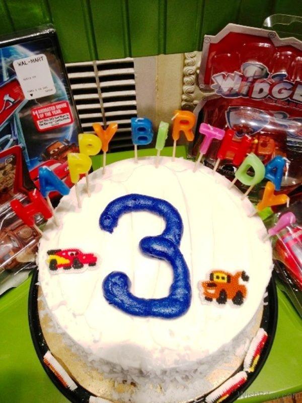 Happy Birthday With White Cake 1