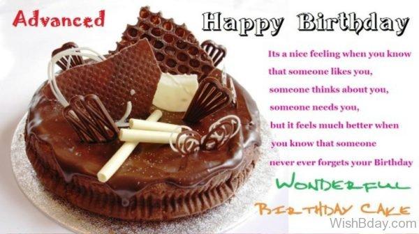 Happy Birthday Wonderful Birthday Cake
