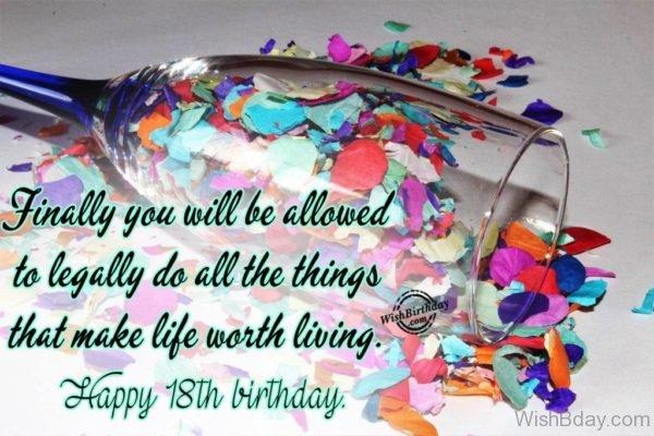 Happy Eighteenth Birthday