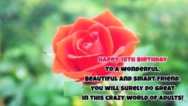 Happy Eighteenth Birthday To A Wonderful Beautiful
